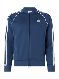 Granatowa kurtka Adidas Originals z bawełny