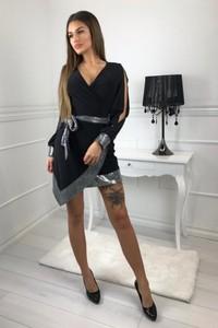 ba1e3557e4 czarna cekinowa sukienka - stylowo i modnie z Allani