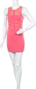 Różowa sukienka Blvd bez rękawów
