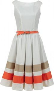 Sukienka Camill Fashion bez rękawów midi z okrągłym dekoltem