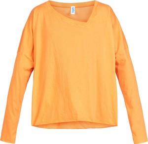 Pomarańczowa koszulka z długim rękawem Robert Kupisz w stylu casual