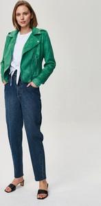 Zielona kurtka FEMESTAGE Eva Minge z zamszu w stylu casual