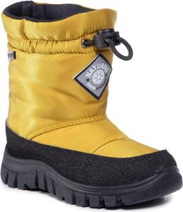 Żółte buty dziecięce zimowe Naturino sznurowane