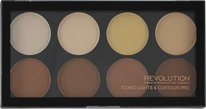 Makeup Revolution, Iconic Lights & Contour Pro, paleta do konturowania twarzy, 13g
