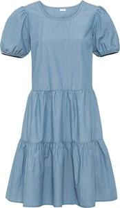 Sukienka bonprix w stylu casual z okrągłym dekoltem
