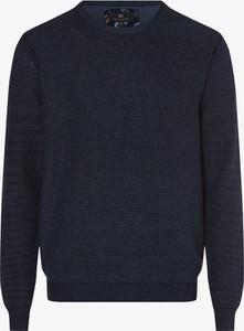 Niebieski sweter Nils Sundström z bawełny
