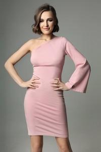 Różowa sukienka Madnezz dopasowana z bawełny