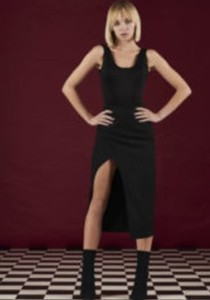 Czarna spódnica Martino Demi z wełny