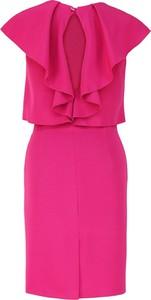 Miętowa sukienka Camill Fashion z krótkim rękawem z okrągłym dekoltem dla puszystych