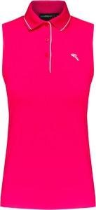 Różowa bluzka Chervo z tkaniny bez rękawów