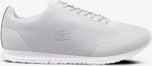 Buty sportowe Lacoste sznurowane z płaską podeszwą