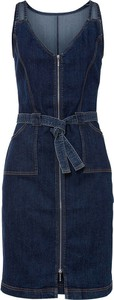 Niebieska sukienka bonprix mini bez rękawów