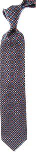 Niebieski krawat Marinella z jedwabiu
