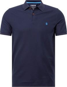 Niebieska koszulka polo Izod z krótkim rękawem z dżerseju