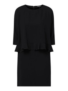 Czarna sukienka Emporio Armani prosta z długim rękawem