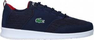 Granatowe buty sportowe Lacoste w sportowym stylu