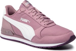 Różowe buty sportowe Puma z płaską podeszwą sznurowane