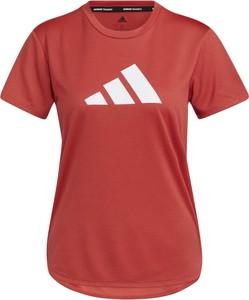 Czerwony t-shirt Adidas w sportowym stylu