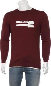 Czerwony sweter RG 512 w młodzieżowym stylu z okrągłym dekoltem