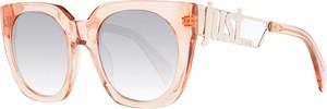 Pomarańczowe okulary damskie Just Cavalli