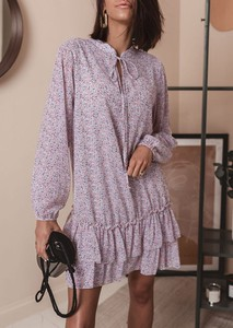 Sukienka Latika mini z długim rękawem