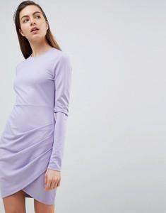 Fioletowa sukienka Ivyrevel z długim rękawem z dżerseju