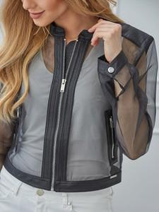 Czarna kurtka Rino & Pelle krótka z tkaniny