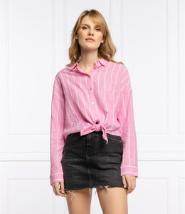 Różowa koszula Tommy Jeans