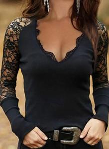 Bluzka Sandbella z długim rękawem w stylu casual