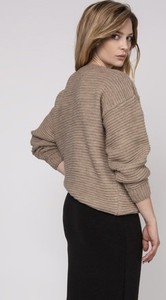 Brązowy sweter Mkm Swetry z dzianiny w stylu casual