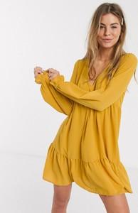 Sukienka Asos Design z długim rękawem mini