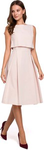 Sukienka Makeover midi z okrągłym dekoltem
