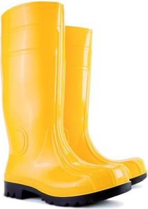Żółte kalosze Demar w stylu casual