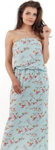 Niebieska sukienka Awama maxi