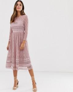 Sukienka Asos Design z długim rękawem midi
