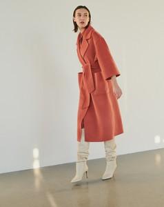 Pomarańczowy płaszcz Reserved w stylu casual