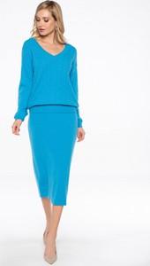 Niebieski sweter POTIS & VERSO z wełny
