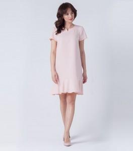 Różowa sukienka butik-choice.pl z krótkim rękawem