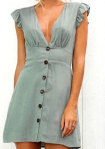 Sukienka Arilook mini szmizjerka z krótkim rękawem