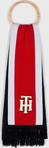 Czerwony szalik Tommy Hilfiger