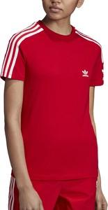 Bluzka Adidas z nadrukiem z bawełny
