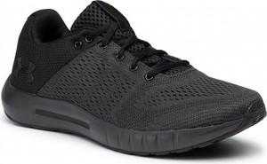 Czarne buty sportowe Under Armour z płaską podeszwą sznurowane
