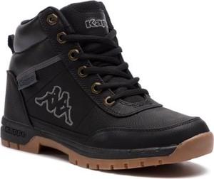 Czarne buty dziecięce zimowe Kappa