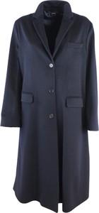 Granatowy płaszcz Aspesi z wełny w stylu casual