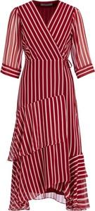 Sukienka Marella z długim rękawem z dekoltem w kształcie litery v