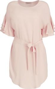 Sukienka Twinset z okrągłym dekoltem midi z krótkim rękawem