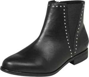 6d95c8f79daaf4 Czarne botki Tom Tailor w stylu casual ze skóry na zamek