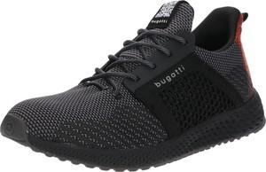 Czarne buty sportowe Bugatti sznurowane