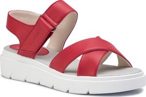 Sandały Geox ze skóry ekologicznej w stylu casual