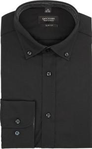Czarna koszula recman z długim rękawem